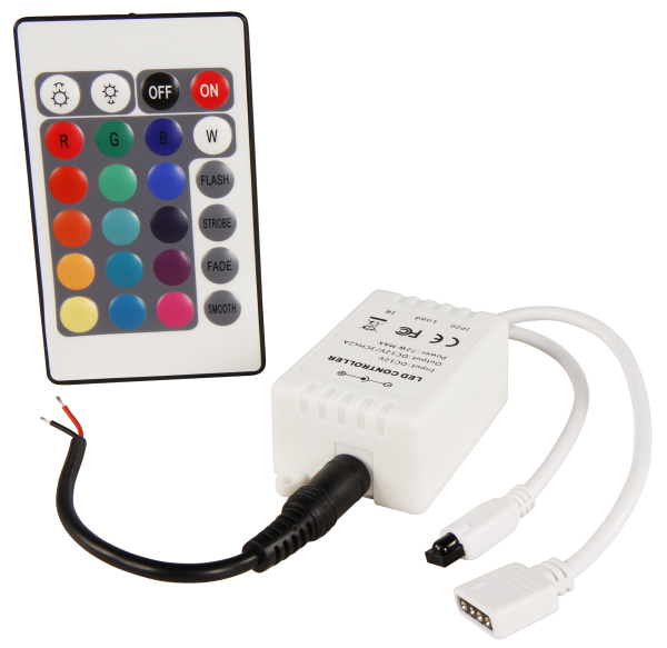 RGB-Controller McShine füŸr LED-Stripes inkl. Fernbedienung