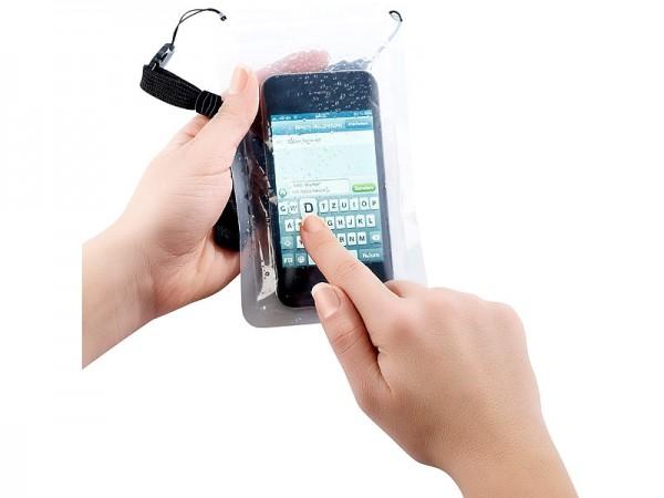 Wasserdichte Universal-Tasche für iPhone & Smartphones bis 4 Zoll