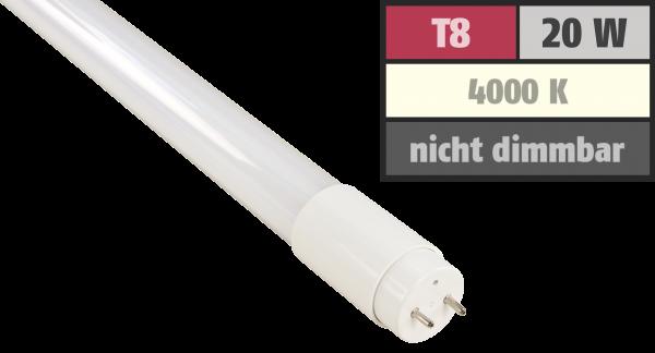 LED-Röšhre McShine, T8, 20W, 1.950 lm, 200°, 120cm, neutralweiß, inkl. Starter