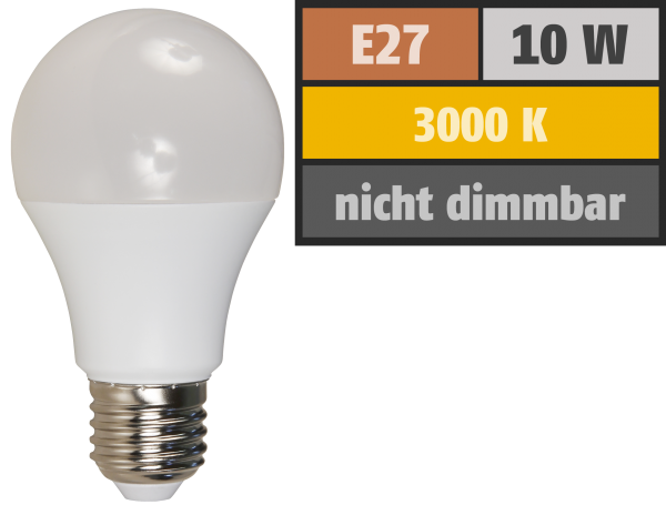 LED GlŸühlampe McShine, E27, 10W, 810 lm, 3000K, warmweiß