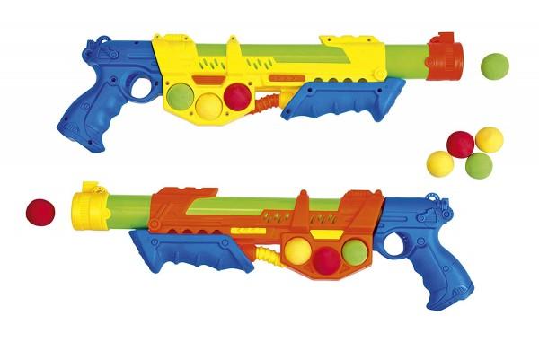 Wasser- und Softballpistole, 2-in-1, inkl. 6 BŠlle