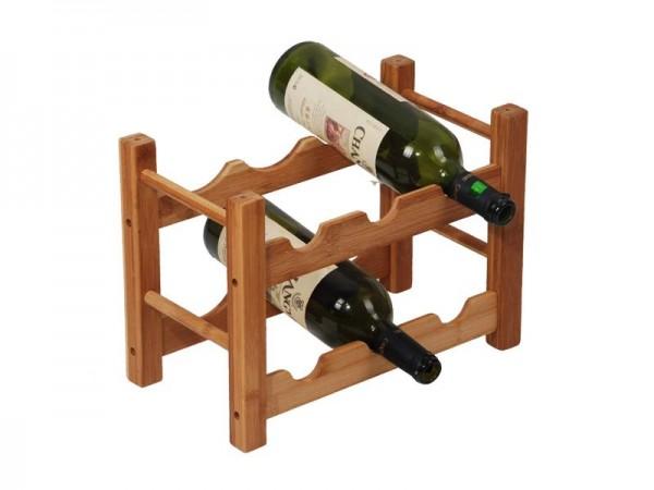 MK Bamboo ROMA - Weinflaschenhalter für 6 Flaschen