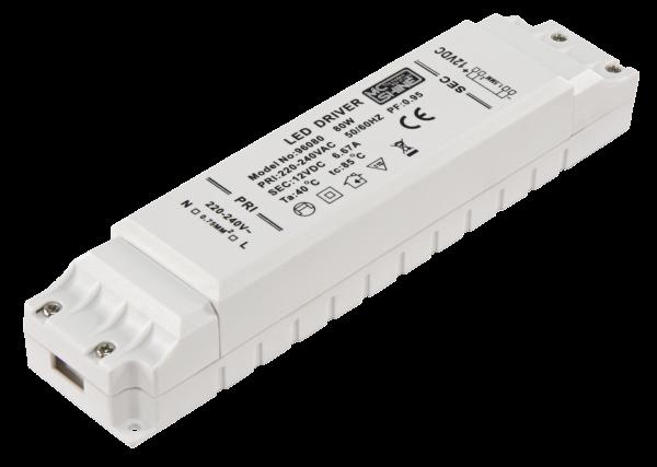 LED-Trafo McShine, elektronisch, 1-80 W, 220-240 V -> 12 V, 220x48x40mm