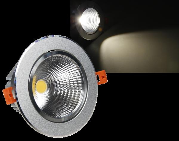 LED-Einbauleuchte McShine ''EL-12'', 12W COB, 840 lm, 140mm-Ø, warmweiß