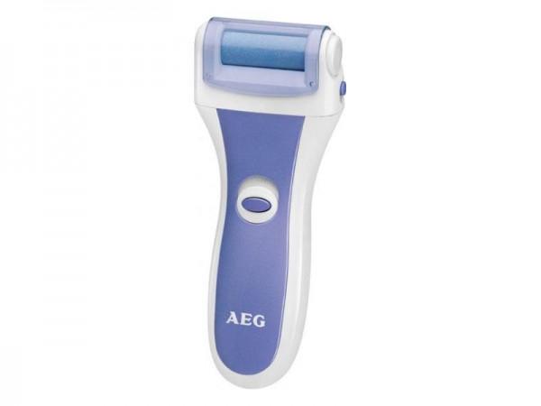 AEG PHE5642 Pediküre-Hornhautentferner mit 4 austauschbaren Rollen Weiß/Blau
