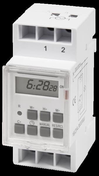Digitale Zeitschaltuhr McPower ''STE-3'' 7 Tage, 230V fŸür Schalttafel-Einbau,3600W