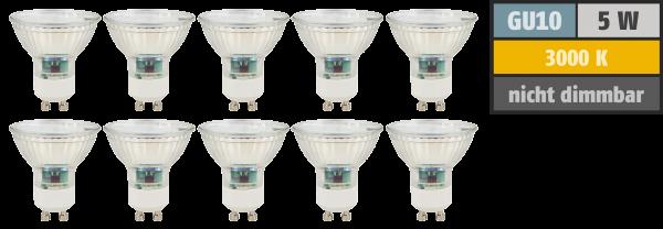 LED-Strahler McShine ''SP50-10'', GU10, 5W, 400 lm, warmweiß, 10er-Pack