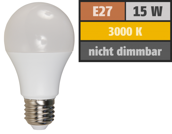 LED GlüŸhlampe McShine, E27, 15W, 1.250 lm, 3000K, warmweiß