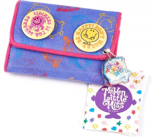 Mr. Men and Little Miss 1 x Kinder-Geldbörse mit 4 Buttons, 11 x 9cm, Portemonaie