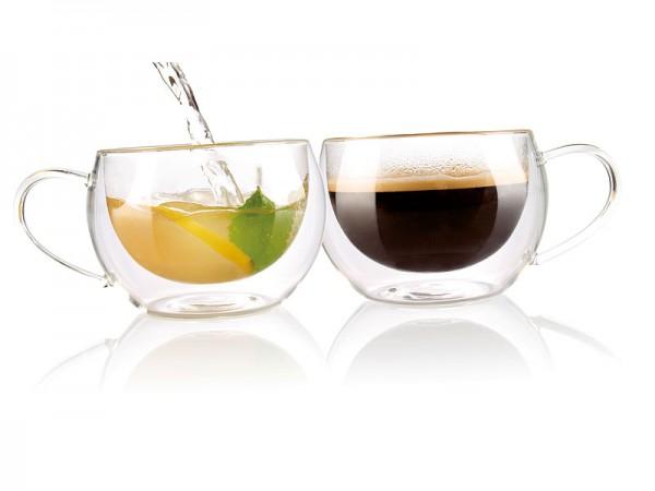 Doppelwandiges Kaffee- & Tee-Glas, 2er-Set