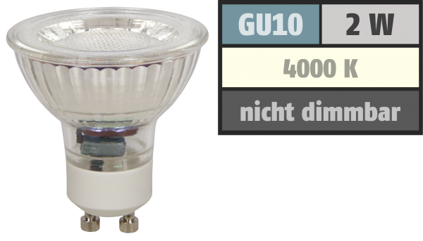 LED-Strahler McShine ''MCOB'' GU10, 2W, 100lm, neutralweiß