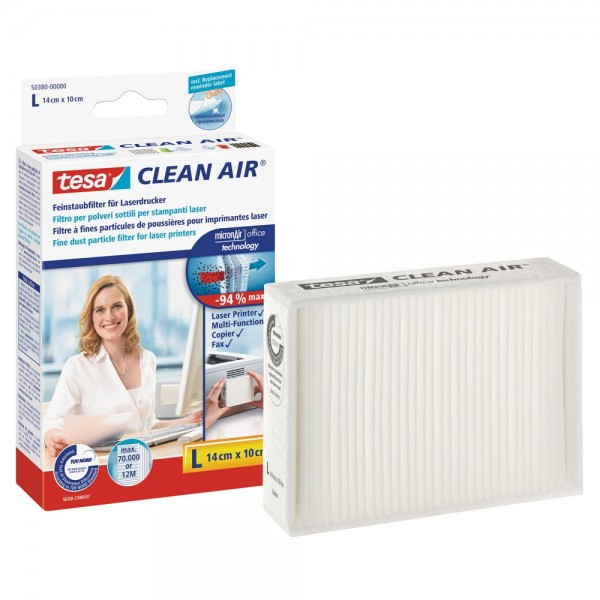 tesa Clean Air Feinstaubfilter für Laserdrucker, Größe L