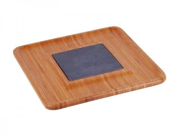 MK Bamboo STUTTGART - Käseschneidebrett mit Schieferplatte