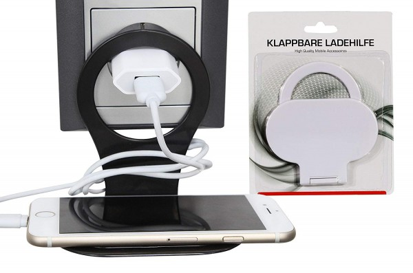 Klappbare Ladehilfe für Smartphone schwarz Handyablage