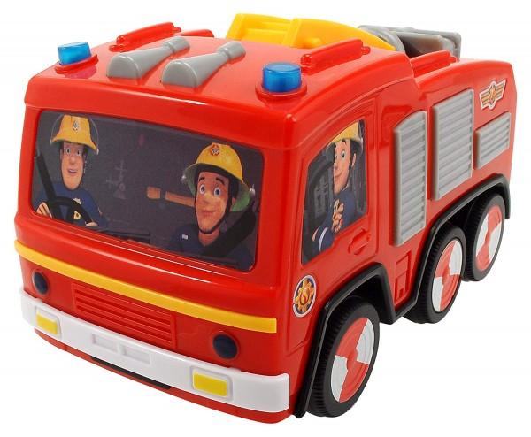 Feuerwehrauto Jupiter | mit Runterfall-Stopp & Licht | Feuerwehrmann Sam
