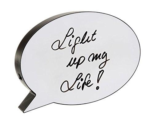 "LED Lightbox ""Sprechblase Whiteboard"", mit Stift, 30x22cm"