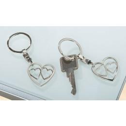 Schlüsselanhänger Triple Herz matt + glänzend