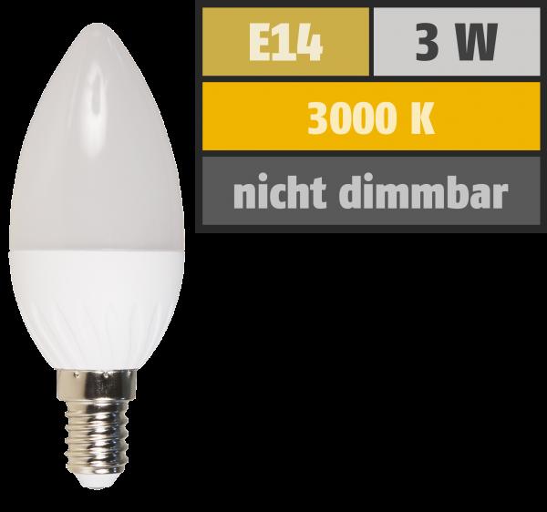 LED Kerzenlampe McShine, E14, 3W, 250 lm, 3000 K, warmweiß