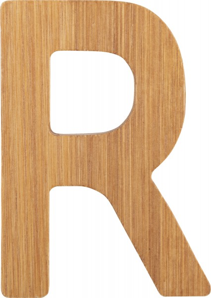 ABC Buchstaben Bambus R