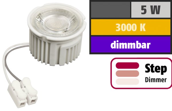 LED-Modul McShine ''MCOB'' 5W, 400lm, 230V, 50x33mm, warmweiß, 3000K, step-dimmbar