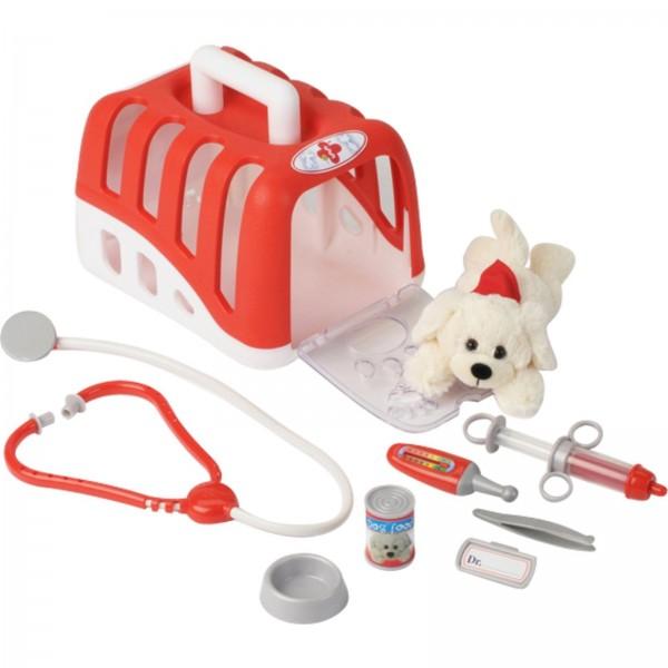 Tierarztkoffer mit Hund und Zubehör, Rollenspiel