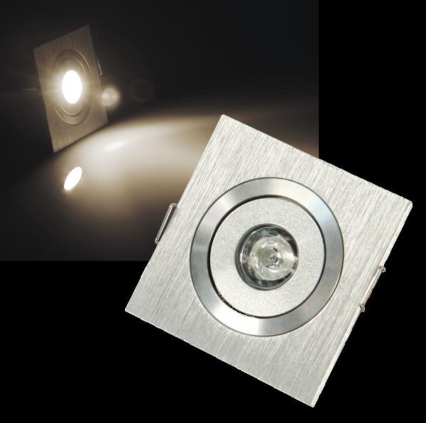 LED-Einbaustrahler McShine ''LES-160'', 1W LED, 60x60mm, warmweiß